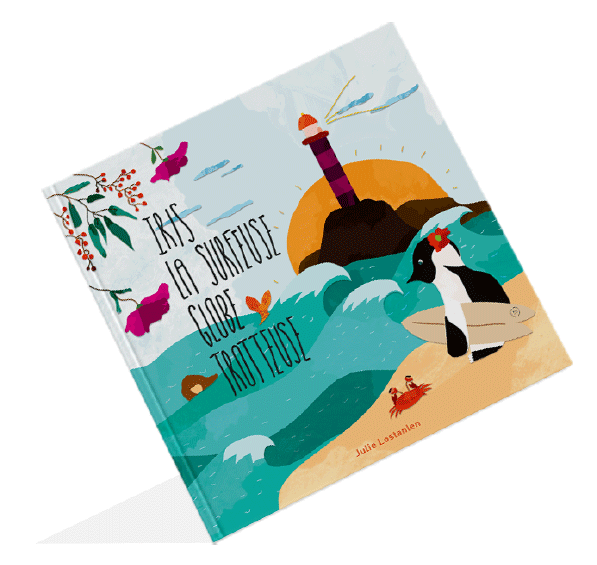 livre iris la surfeuse globe-trotteuse