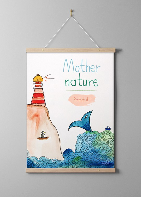 affiche illustration aquarelle