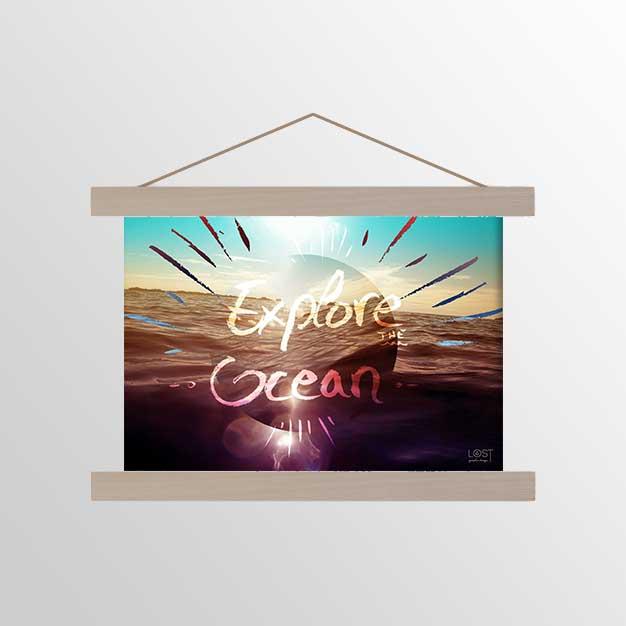 affiche ocean et lettering