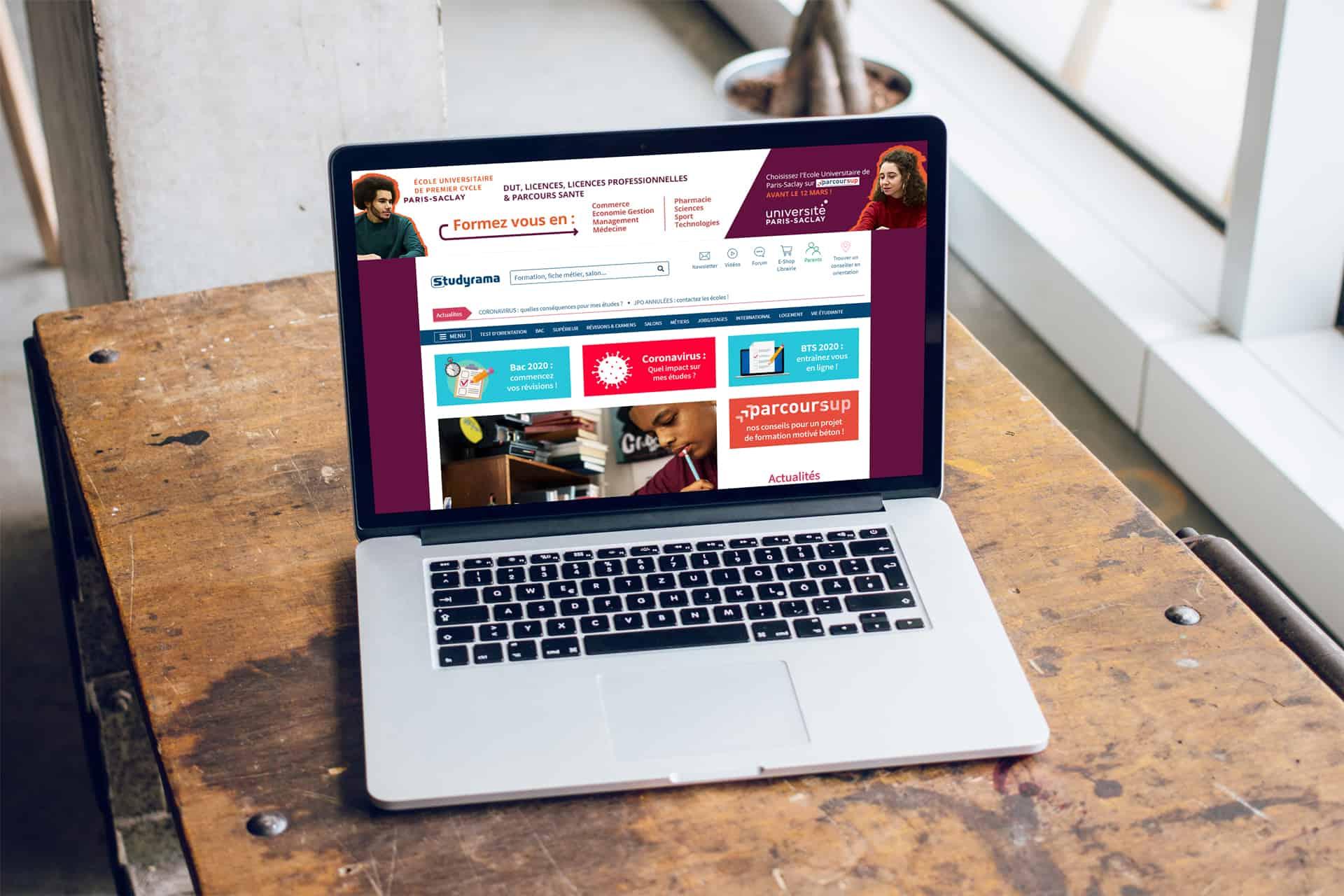 Université Paris Saclay – Habillage display et visuels réseaux sociaux