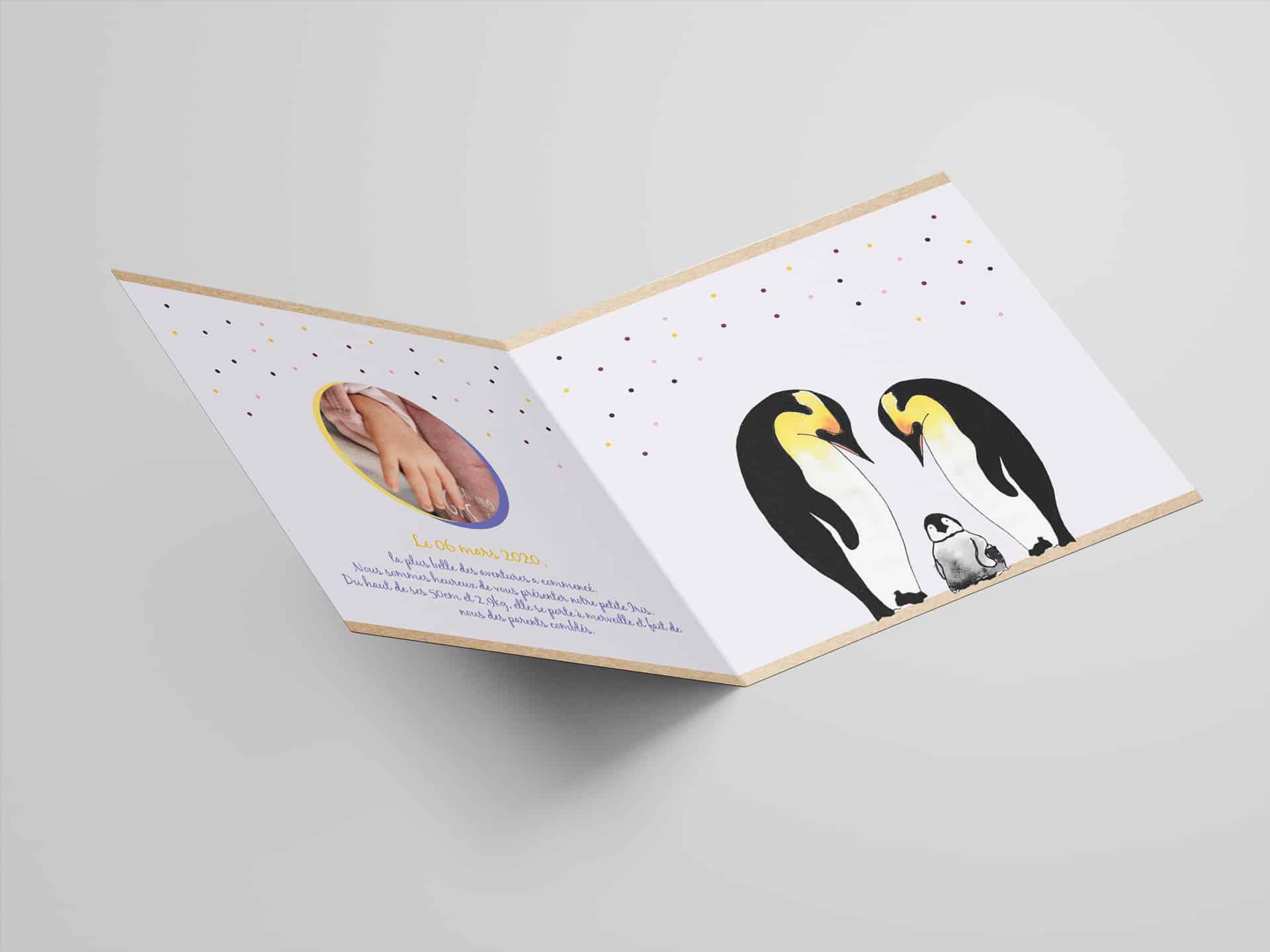 Faire-part de naissance & Mariages – Print design