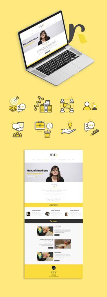 webdesign manuella radigue coach