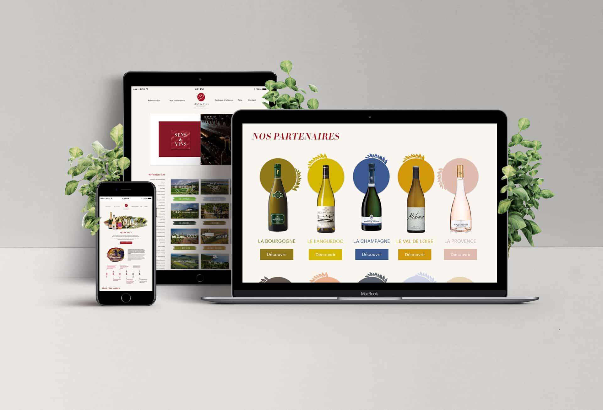 Sens & Vins – Web design